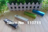 500sets Fedex Free Shipping Metal shell 2600mAh Power Bank External Portable Battery Backup; Charger For iPhone, Samsung