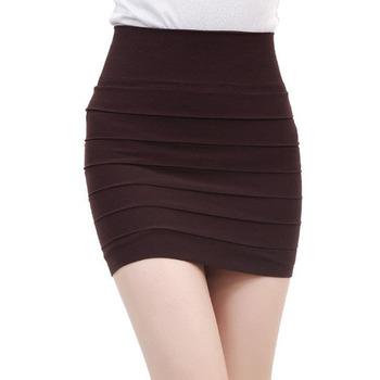 Slim skirt Женщины's Sexy A-Line 10 Цвет Seamless clothes Мини skirt stretchy ...