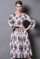 Free Shipping 2014 Catwalk Fashion Sleeveless Loose Print Tops + Sheath Long Pants Woman Vintage Twinset Suits