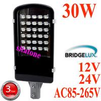 2 year warranty free shipping 12V 24V AC85-265V 30W  led street light  IP65 Bridgelux 130LM/W LED  led street light