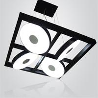 Free shipping Luxury Modern brief aluminum alloy pendant light box wingover 4 lamp aluminum pendant light living room lights