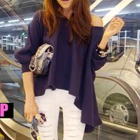 Princess d 2014 women's irregular loose casual t-shirt basic top 3643