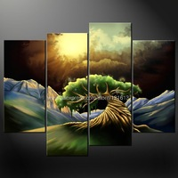 Abstract Tree Painting Style Cascade Canvas Picture Many Oil Paintings Chinese Unique Gift Wall Decor Paintings Modern St
