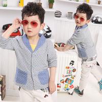 Handsome ! child outerwear male child blazer 2013 spring children's clothing su 12266