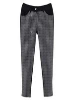 Free Shipping Fat MM Plus Size New Arrival Clothing 2014 Comfortable Plaid Trousers Women 5515 XL-XXL-XXXL-XXXXL