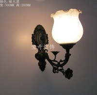 Brief fashion rustic wrought iron wall lamp ofhead bedroom lamp mirror light bathroom lamp lamps