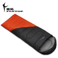 Outdoor sleeping bag envelope adult camping autumn and winter sleeping bag patchwork lovers sleeping bag