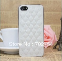 Free shipping Wholesale 10PCS luxury Designer Leather Hard Case for iphone 5 5S Cell Phone Case