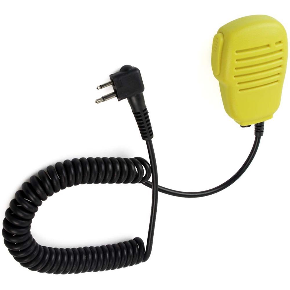 Yellow Frosted Shell Waterproof IP54 Mono Jack PTT Handheld shoulder Speaker MIC For Motorola Radio GP/CP/PRO J0269F(China (Mainland))