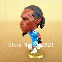 Classic! 2012-13 season Free shipping football star dolls/toy figures of the drogba in chelsea, football fan souvenir