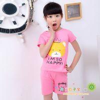 2014 Summer Casual Children Clothing Set Child 100% Twinset Cotton Suits Boy Set
