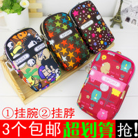 Big mobile phone bag wrist length bag arm package halter-neck coin purse small Women canvas sports bags