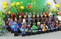 Super Hero Figures Toys 48pcs/lot The Avengers Hulk Ironman Batman Spiderman Toy Classic Toy DIY Building Blocks Bricks