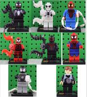Classical Toy Super Hero Spiderman Action Figures 8pcs Set The Avengers Toy Robot Mini Figures Aliens Spiderman Toys