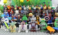 New Classical Toy Star wars Robot Minifigs Supman Batman Spiderman Ironman Joker Wolverine Ninja Turtles 60pcs/lot Block Doll