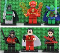 Educational Action Figures Martian Manhunter Shazam Robin Night Wing Classical Toy Marvel Alien Toy DIY Building Block Bricks