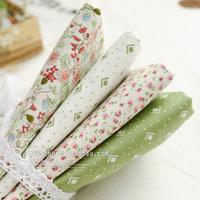 Bz128 floral tea fresh pastel green 100% cotton polka dot neadend cloth handmade fabric diy