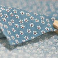 handicraft material Endulge pw014c small - water wash blue - flat stripe cotton fabric - handmade fabric diy  needlework