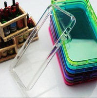 #20140112#  20pcs/lot TPU Silicone Case for iphone 4/4s case mixed color high quality lower price drop shipping