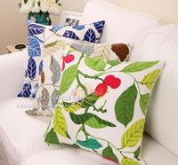 handicraft material Ma055 leaves 2-illust 100% cotton canvas table cloth curtain fabric handmade bag diy  needlework
