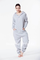 Cotton one piece jumpsuit all-in-one hoody sportsuit brushed fleece cotton jumpsuit jump in cosy tracksuit unique hoody