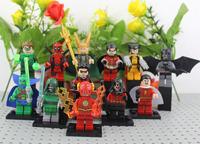 The Avengers Toy 12pcs/lot Green Lantern Robin Deadpool Wolerine Action Figures Vs Martian Manhunter Shazam Robot Doll