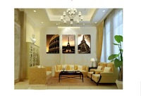3 Piece Wall Art No Framed Modern Oil Painting On Canvas city impression decorative wall art panels Prints
