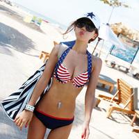 beach wear Fashion hot springs bikini swimwear steel  swimwear