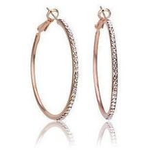 Fashion Crystal  rhinestone exaggerated luxury Big Circle Earrings female ear ring   wholesale B6.5(China (Mainland))