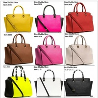 2014 Fashion design Michaels women handbags Big stars Bags leather Handbag tote purse luggage #3036 free shipping