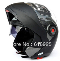 Hot Sales 7colors! 2013 New Arrivals JIKAI Dual Lens Motorcycle Flip Helmets with inner sun visor Full Face Helmet best2
