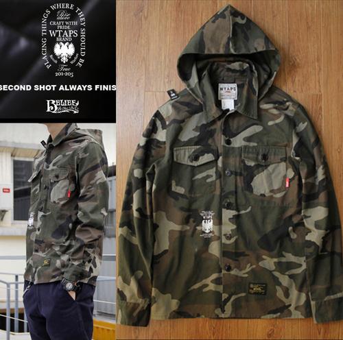 Wtaps clot Camouflage m65 slim jacket outerwear(China (Mainland))