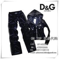 Free Shipping Pleuche 892013 bling rhinestones fashion casual sports female velvet set women suit