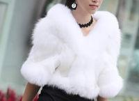 2014 New Warm Faux Fur Shrug Shawl Wrap Jacket Bridal Wedding Winter Stole
