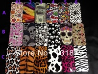 For iphone4 4s Case Free Shipping 100pcs/lot High Quality Luxury Flower Skull / Leopard Pattern Case Cover For iphone 4 4s