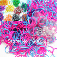 10pack of Different Colors Tie dye BANDS,Rubber bands Refills DIY BRACELET Comes With 600pcs Rubber Bands And S Clips