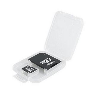 2gb micro tf card free sd adapter packing plastic protection box(China (Mainland))