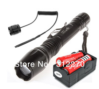 UltraFire 1800LmTactical Zoomable CREE XM-L T6 LED 18650 Flashlight Torch Zoom Lamp Light + 2x18650 + Charger+Tactical switch