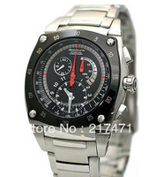Free Shipping Sportura Kinetic men's watch SNL033P1 chronograph stainless steel belt + Original box+Wholesale
