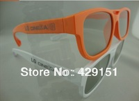 Free shipping AG-F200 No Flash Polarization 3D Glasses For LG Sonic Polarization Display A Pair