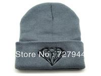 2014 wholesale Winter Warm Knitted Diamond Beanie cap hat fashion Men's Women's Beanies cheap online free shipping