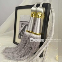 Fashion quality lengthen tassel curtain hanging ball curtain accessories curtain buckle bandage big ball