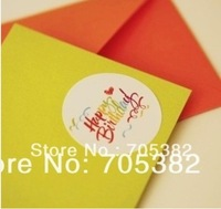 New colorful printed Happy birthday seal sticker,round sticker(ss-6851)