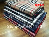 Pf9 Checked Cotton Plaid fabric cloth textile M tartan biege black blue red color retail or wholesale