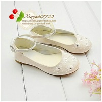Female children age season white single shoes princess wedding dress shoes children's shoesKB427