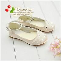 Female children age season white single shoes princess wedding dress shoes children's shoesKB427