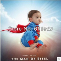 Superman Long Sleeve Baby Dress Romper baby bodysuits boys baby clothing infant clothes