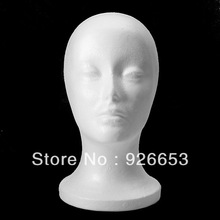 Styrofoam Model Wig Glasses Hat Display Foam Mannequin Manikin Head Stand Holder New(China (Mainland))