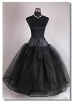 Stock!!! Free Shipping!!! Hot Sales High Quality Long Crinoline Black Petticoat