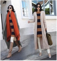 2014 New Arrival Hot Sale Spring knitted Women's Sweater Long Fashion ladies' Cardigans Women Plus Size Full Sleeve FreeShipping